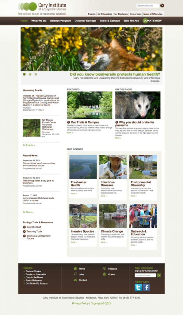 Cary Institute of Ecosystem Studies's Drupal 7 Site by