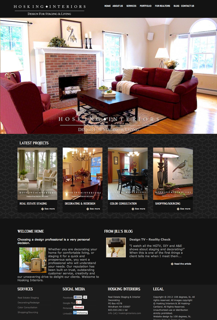 Hosking Interiors's Drupal 6 Site by 108 degrees, llc | Blue Drop